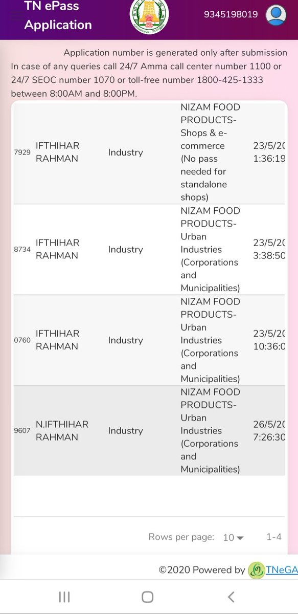 @TNeGA_Official my application get rejected without any valid reasons . Iam food products manufacturer i needed vehicle pass for procurment of raw materials .#tnepass #TamilNadulockdown #TNGovt @CMOTamilNadu @Vijayabaskarofl @OfficeOfOPSpic.twitter.com/6gQnXTIhYN