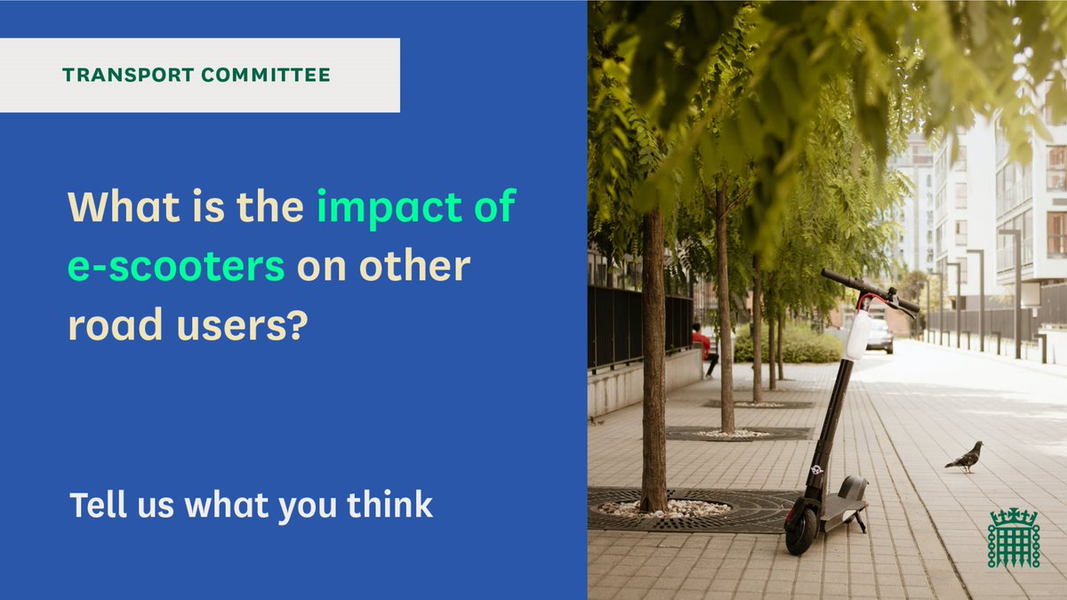 🛴Pavement users, how do you think wide spread use of #escooters would affect your ability to get out and about? Where do you think e-scooters should be used? #Accessibility #Disability #Travel 🔍Let us know what you think, you have one week left: committees.parliament.uk/committee/153/…