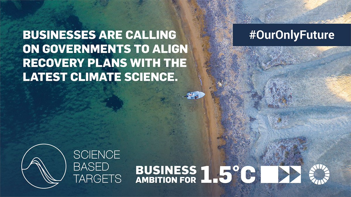 Human health depends on planetary health. We need to take ambitious #ClimateAction to recover better from #COVID19.  150+ leading companies with @sciencetargets are calling on governments to protect #OurOnlyFuture: https://t.co/hgvMKcIdat https://t.co/kxr4izzmUT