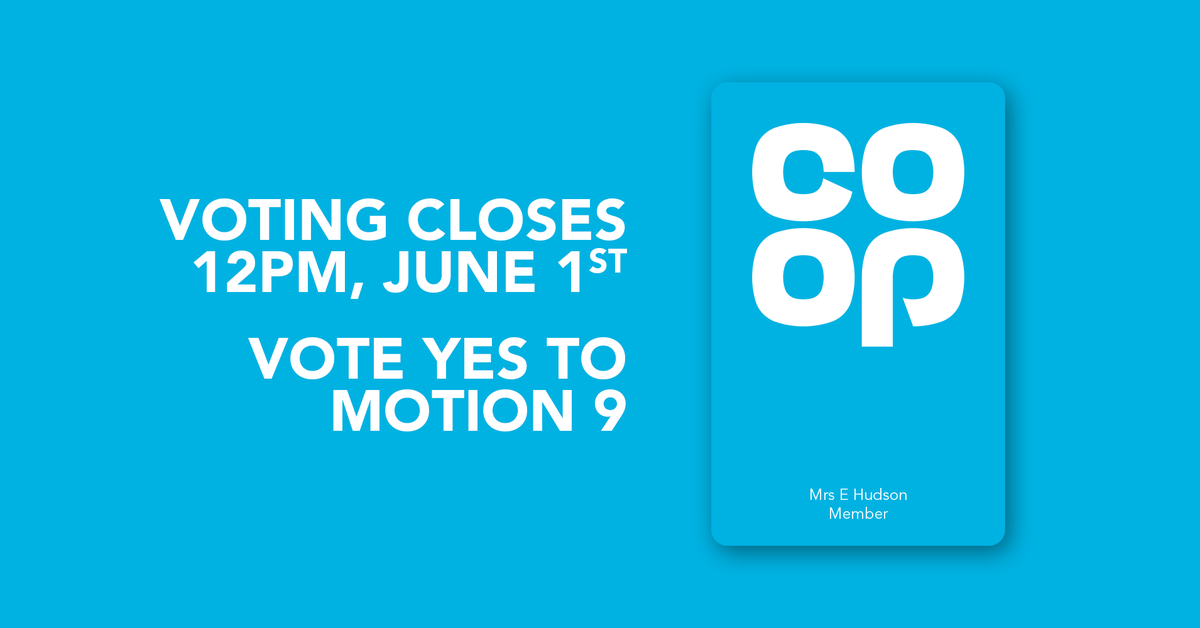 Theres less than a week left to go in the @coopuk AGM - find out more about our work together, and vote #YesToMotion9 👇 party.coop/coopagm20/