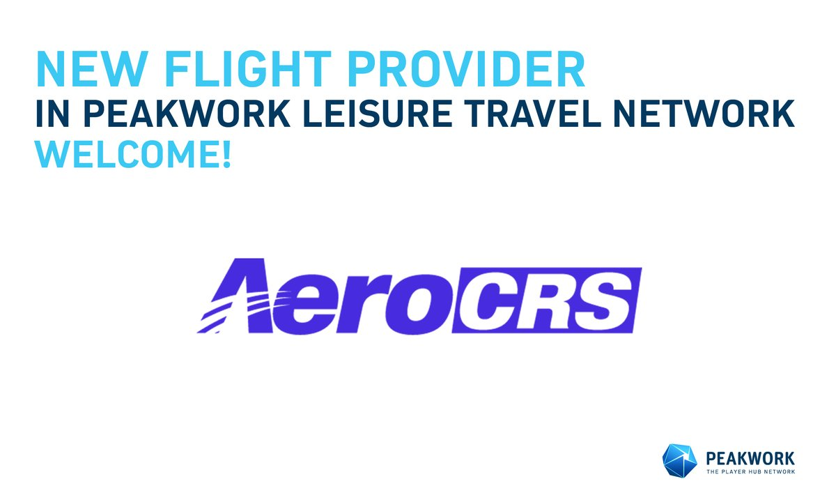 Israel based flight provider, AeroCRS, is now connected to the Peakwork network. AeroCRS provides technology services and distribution connectivity to more than 60 airlines from all over the world. https://t.co/y7xnxcEoTg https://t.co/do5Ls5EVGQ