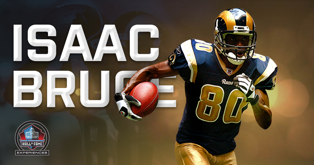As @IsaacBruce80 prepares for his enshrinement into the Hall of Fame as a member of the Class of 2020, we decided to look back at the top moments of his career that helped cement his place in Canton. Read: bit.ly/HOFExpBlogIBru… #PFHOF20 | @HOFExperiences | @RamsNFL