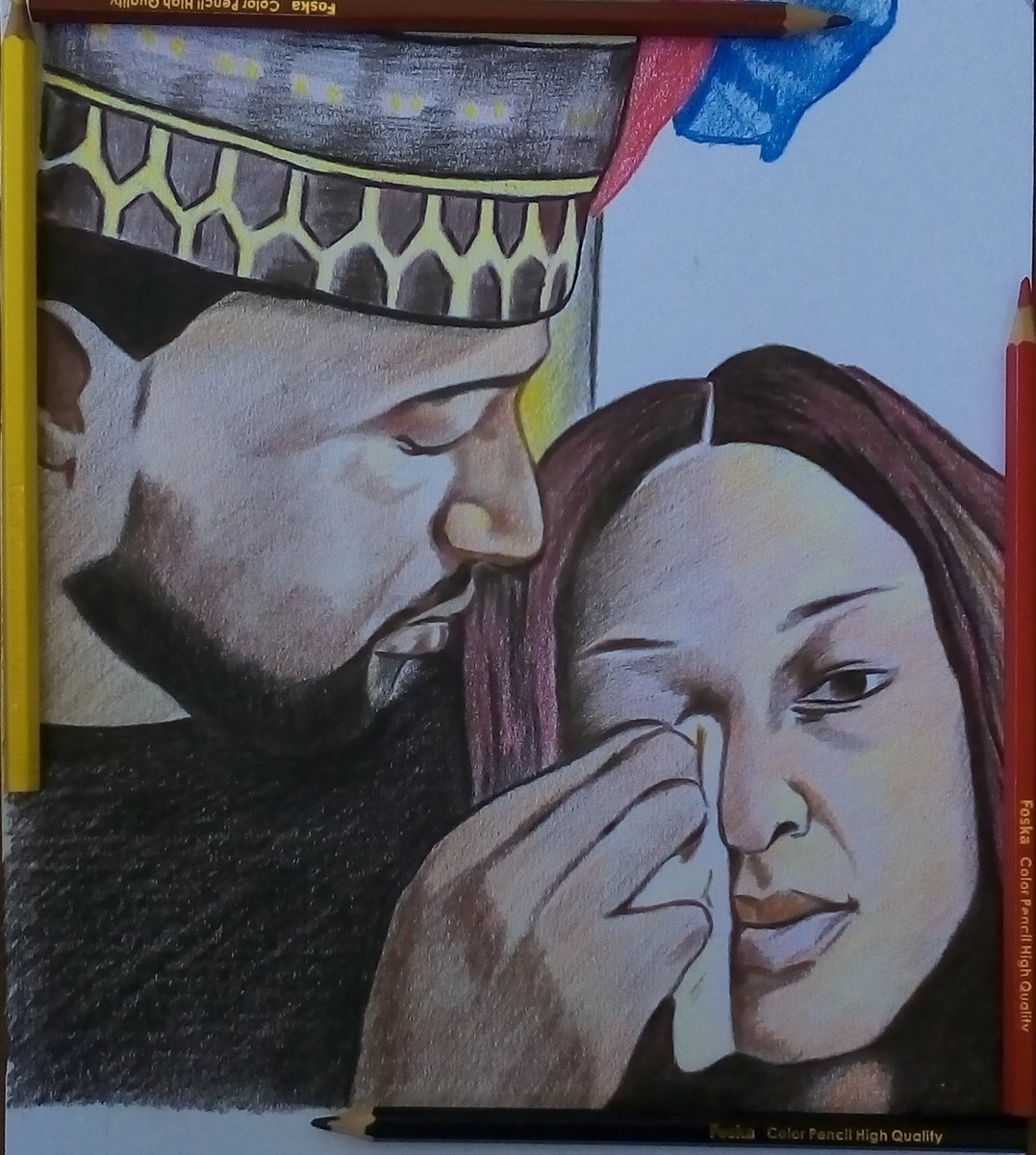 This colored pencil drawing was inspired by Sunday's live.... We all need that special man That would wipe our tears away... #Dearkachi you're one of a kind.. You're a superman <br>http://pic.twitter.com/4DKSmV42X8