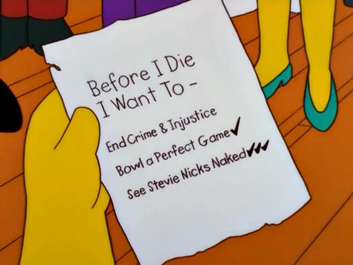 Happy birthday to Stevie Nicks, I\m sure Homer Simpson has a thing or two to say.