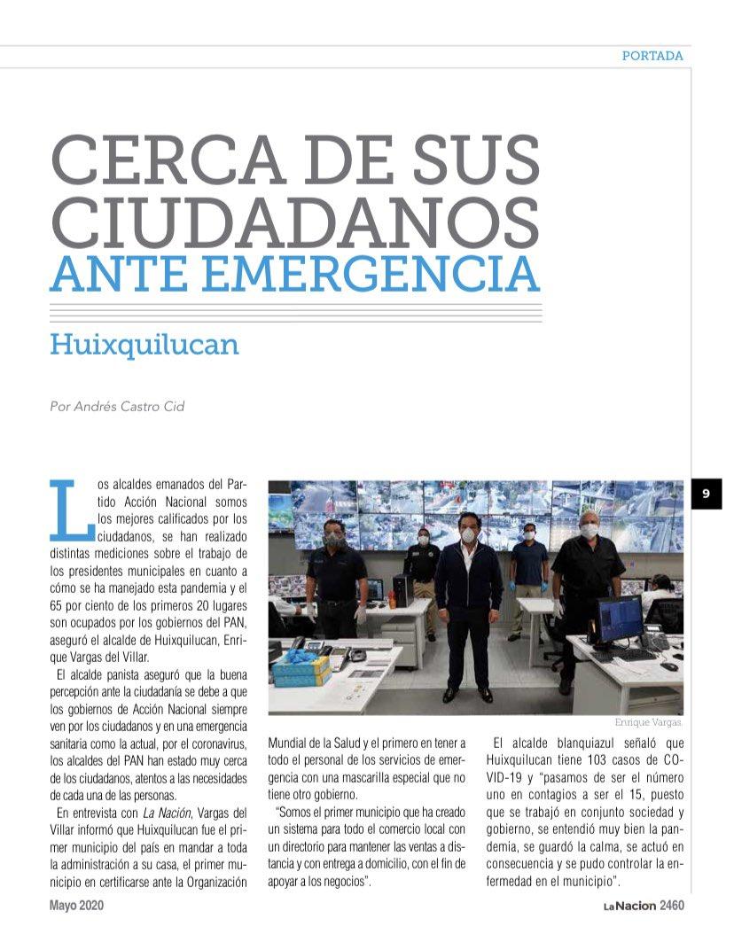 Gran ejemplo de un #gobierno que atiende y resuelve es el de #Huixquilucan, con nuestro alcalde @EnriqueVargasdV. Lee el artículo en revista #LaNación. https://t.co/JkRZtbrQvW