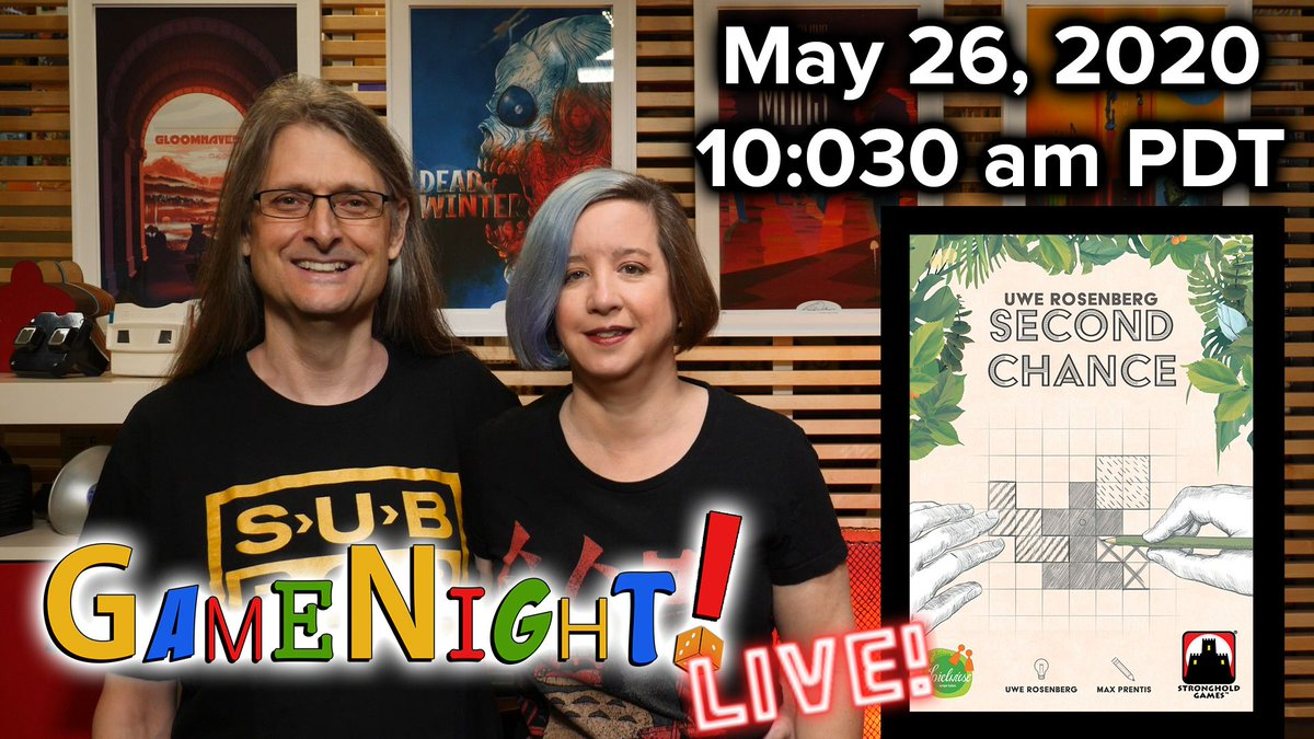 test Twitter Media - Join us today, May 26, 2020 at 10:30am PDT, with @ChilibeanNP @heccubustwit for Second Chance from Uwe Rosenberg & @StrongholdGames. Get your sheet to play along here: https://t.co/tIiA2jRVmS —Lincoln #GameNightBGG   https://t.co/sPlP6W0vo7 https://t.co/HdY6HY0ybv