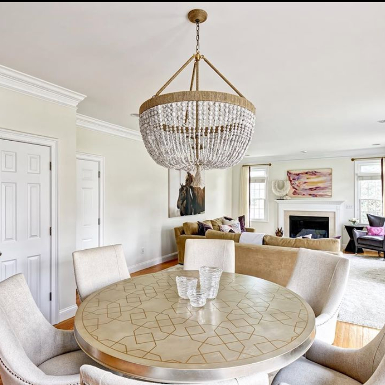 Lighting is SUCH a big part of many of the projects we do! Don't you love this gorgeous Ro Sham Beaux chandelier in this stunning space designed by Beth Krupa of @bkrupainteriors?!#bethkrupainteriors #ctdesign #ctinteriors #cthomes #luxuryliving #ca...pic.twitter.com/8LPEiooBGs
