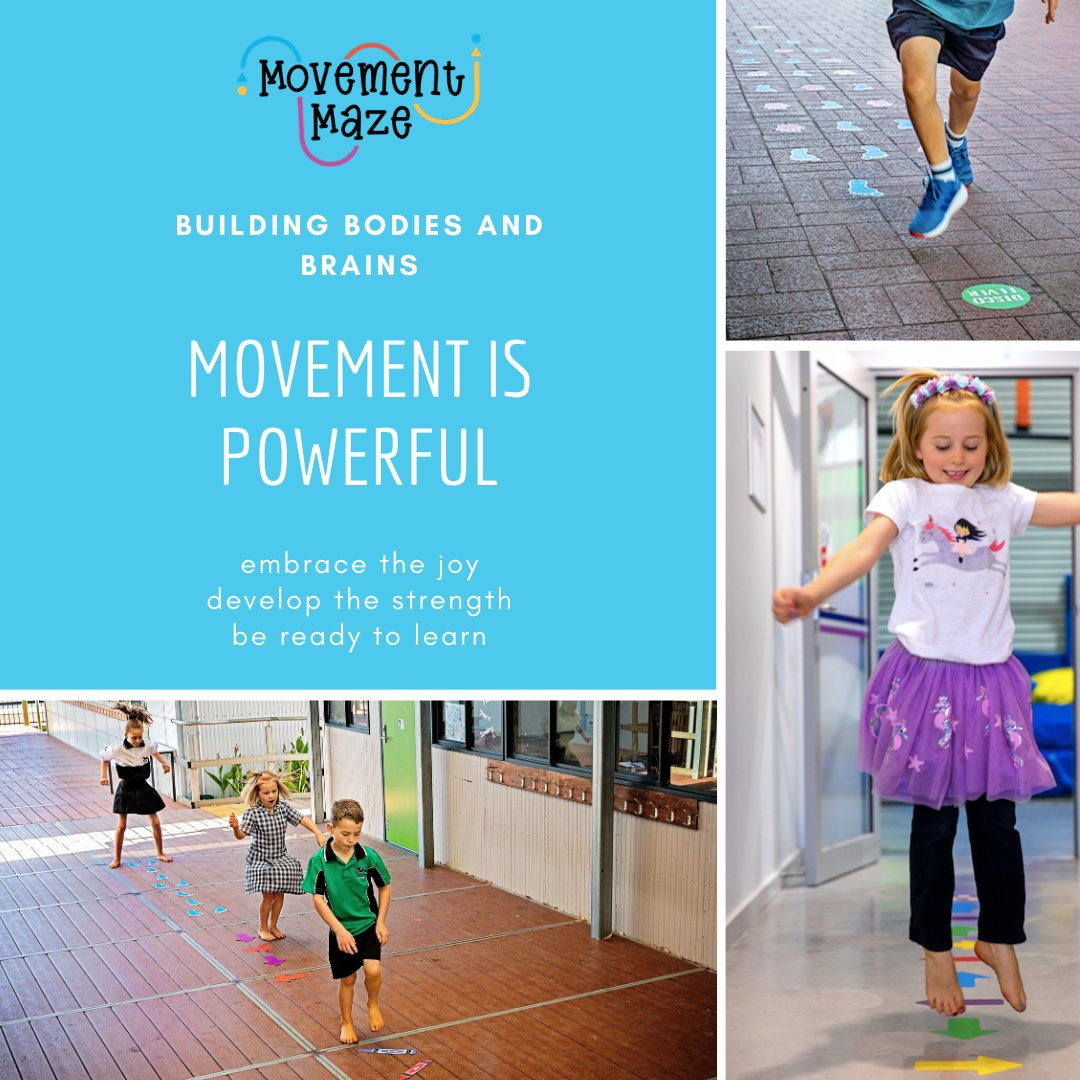 Choose Movement Maze as an easily accessible, fun and interactive solution for providing regular repetitive and fundamental based movements in your school #earlychildhood #sensoryregulation #sensorypathways #primaryschool #australianmadepic.twitter.com/Q4aErVMu8u