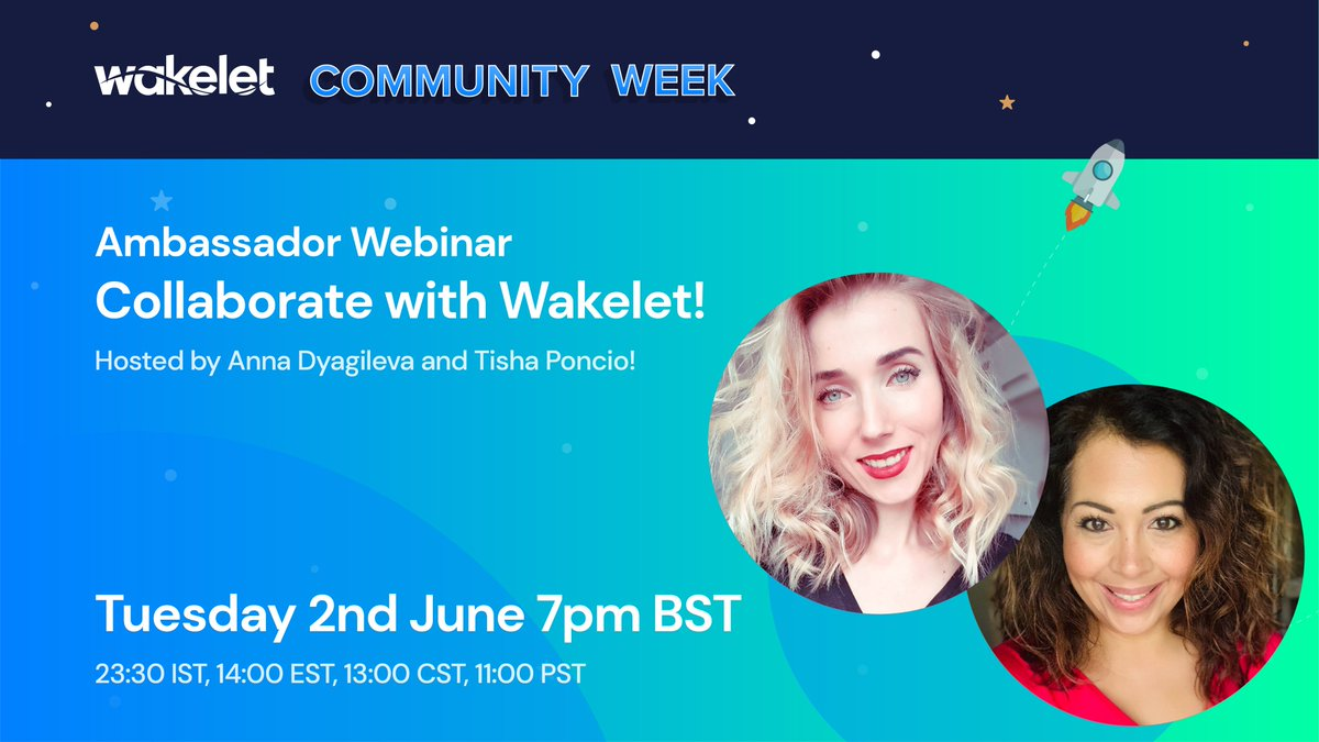 Are you ready for @wakelet Community Week?!🥳 This is a great session if youre just starting out w/ Wakelet or would like to level ⬆️ your integration of Collections and #collaboration in your classroom! Register link: zoom.us/webinar/regist… #wakeletwave #wakeletlive #wakelet