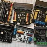 Image for the Tweet beginning: Vijf motordriverboards voor #Microbit met