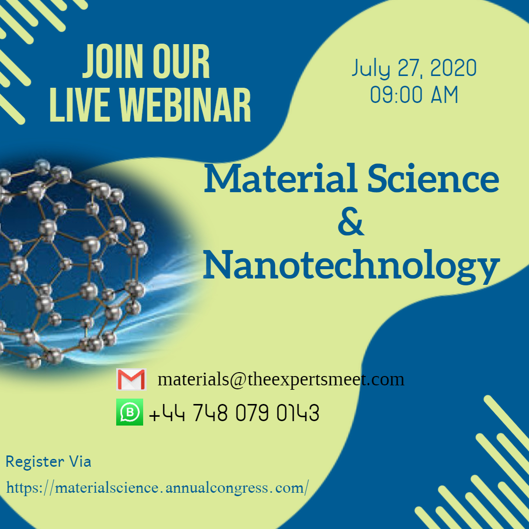 Do you want to talk about #materials ? Submit your researches and avail the opportunity at Euro Materials 2020 Webinar in London, UK during July 27, 2020.  For any query drop a mail at: materials@theexpertsmeet.com pic.twitter.com/49Zai7qSnQ