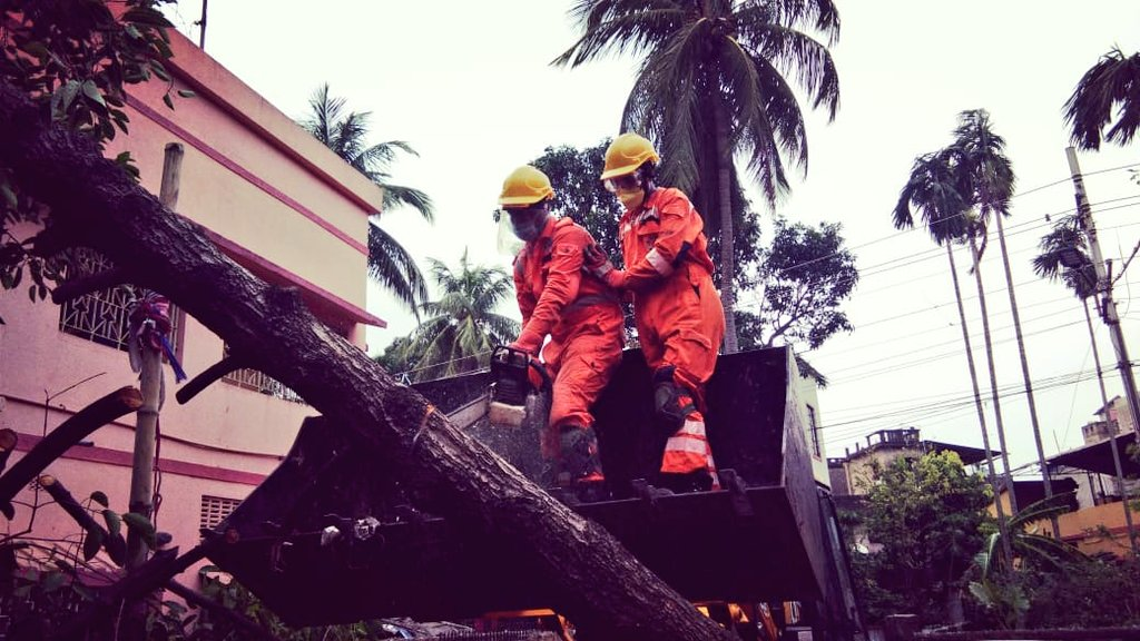 #CycloneAmphan Updates 26/5/20- 𝐃𝐀𝐘6-#PostAmphanRestoration NDRF @ Restoration Work at M G Road, Kolkata, West Bengal #NDRF4U #Committed2Serve @satyaprad1 @ndmaindia @PMOIndia @HMOIndia @PIBHomeAffairs @BhallaAjay26 @DDNewslive @ANI @airnewsalerts @PTI_News