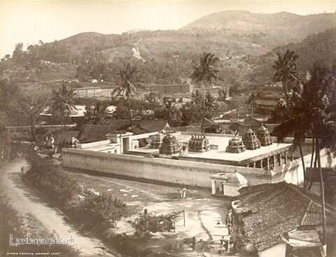 1880 Hindu temple Kandy   #Kandy #lka #SriLanka #RarePic #OldPhotos