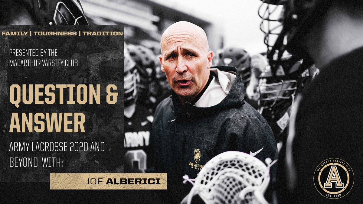Army Lacrosse 2020 & Beyond Open to all Army Lacrosse graduates Thurs. May 28th at 7:00 PM. If you are interested DM us or email frank.shaffer@westpoint.edu #FamilyToughnessTradition #GoArmy #BEATnavy Note: @WestPoint_USMA Lacrosse Grads only