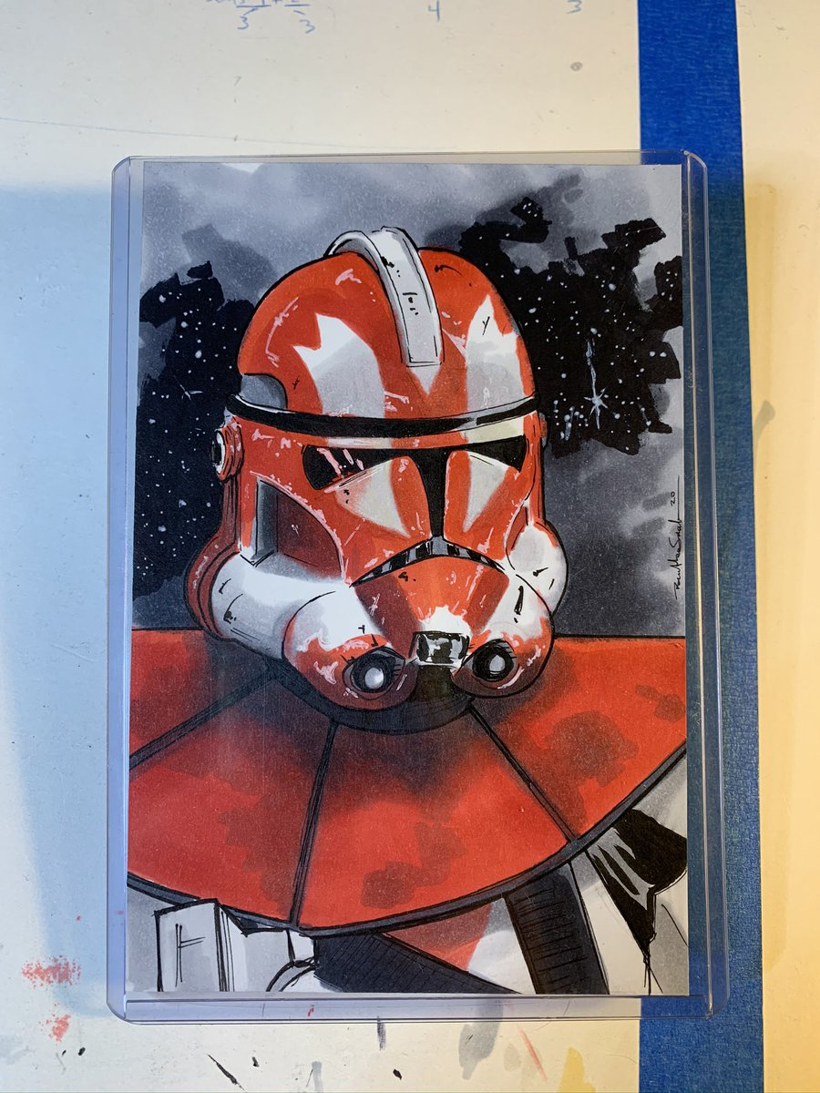 Happy Tuesday! Final Clone Ganch sketch. #clonewars #starwars #revengeofthesith #sketchcards #starwarsart #clonetrooper<br>http://pic.twitter.com/05UWXbxa5D