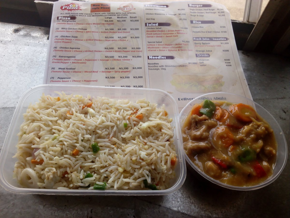 Eat well and spend less... Chinese Rice with Chicken Sauce N1,500 only   07087767750 We deliver within Abuja.  #Arewatwitterconnect #backtoschool Amy Cooper Kano Fatima #arewatotheworld Are You Marriage Material African American #DearKachi #DanoMilkyCheers #StopCovidLies<br>http://pic.twitter.com/ZWuW44o3aY – à The capital Hub