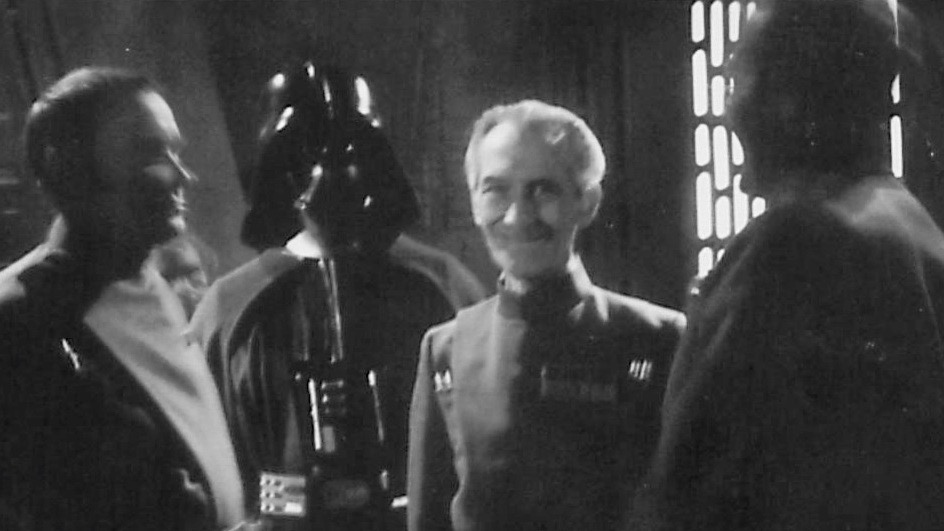 Tarkin balanced his foul stench with a lovely smile. #PeterCushing #StarWars