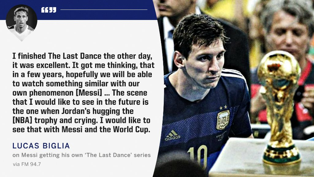 Imagine a series like #TheLastDance about Lionel Messi  <br>http://pic.twitter.com/RiV3YN5jei