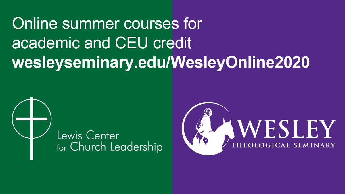 Join Lewis Center staff members for online summer courses for academic and #CEU credit from @WesleyTheoSem: Healthy Stewardship in the Local Church (June 1-5); Bonhoeffer in a Post Truth World (June 1-July 31); and Church Finances (July 6-10). http://ow.ly/EQeH50zO0g0 pic.twitter.com/VseILsF2rn