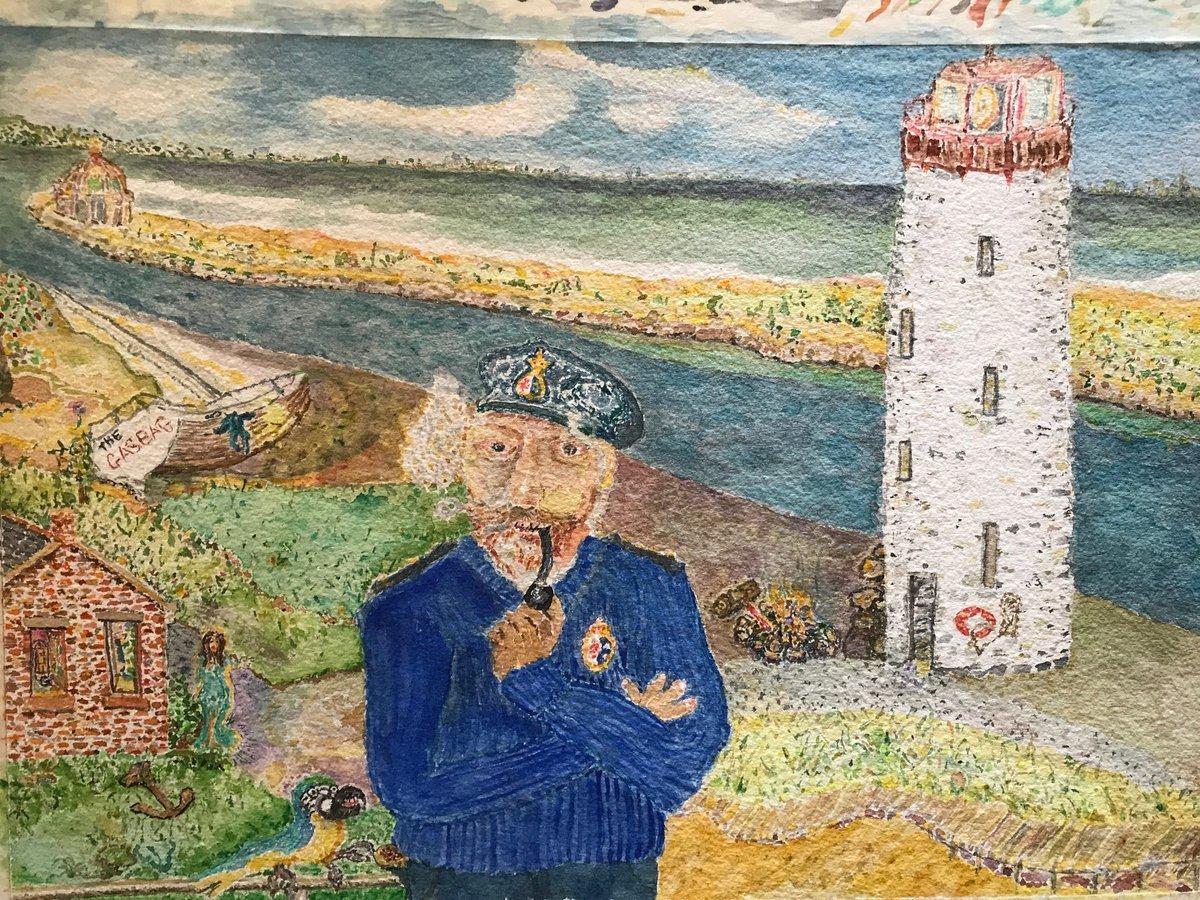 #stevenopenshaw 's Gasbag #painting is a #watercolor #watercolour #aquarelle of Hamilton #beach #Canal #Lighthouse .#artcollector #art #modernart #contemporaryart #NewArtist #ArtistOnTwitterpic.twitter.com/t1t81A8BL2