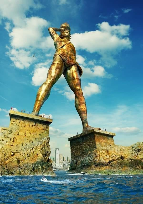 Recreations of the Colossus of #Rhodes, one of the seven wonders of the #ancient world.   #art #statues #history #Macedonia #Greece pic.twitter.com/R6NjYbzHu5