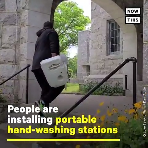 These portable hand-washing stations are helping people experiencing homelessness stay safe during the pandemic