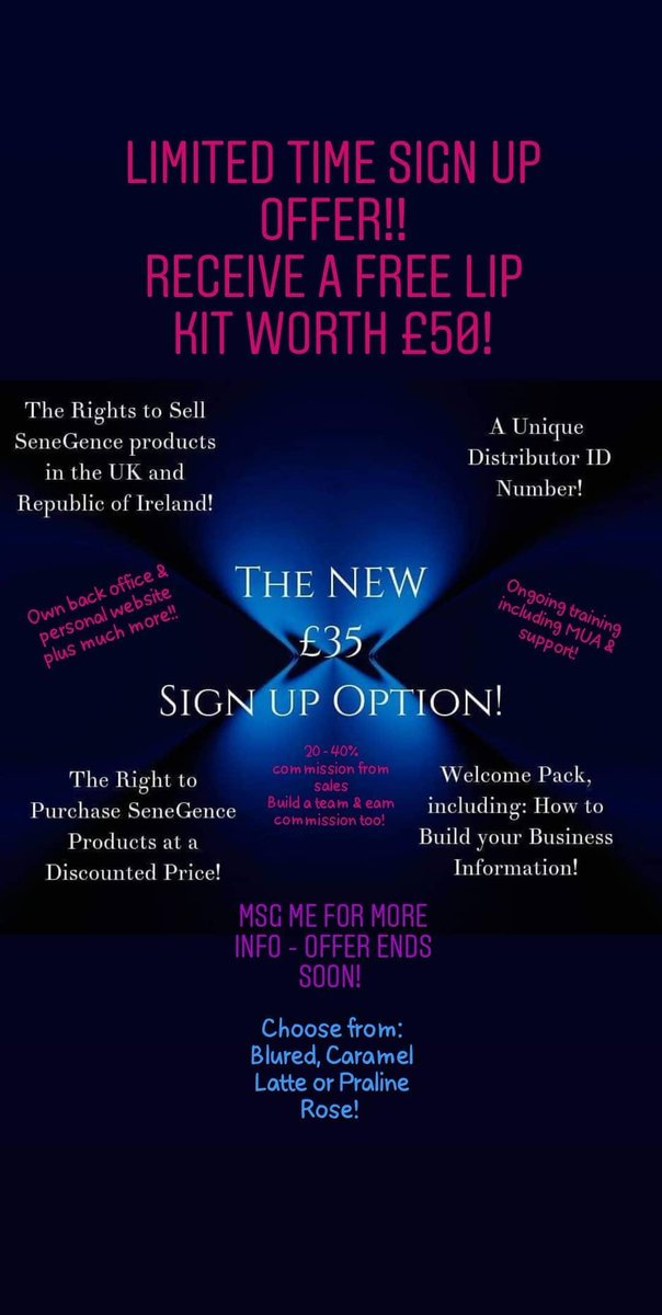 #JoinMe #workingfromhome #signup #opportunity #UKonly  #beyourownboss #commission #networkmarketing #DirectSelling #makeup #makeupaddict #makeupartist #teamwork #Number2TeamInUk #Only500distributorsInUk https://www.sheersense.com/signup/801588  Msg me today! #SPKbyemilypic.twitter.com/n28WoL1wt2