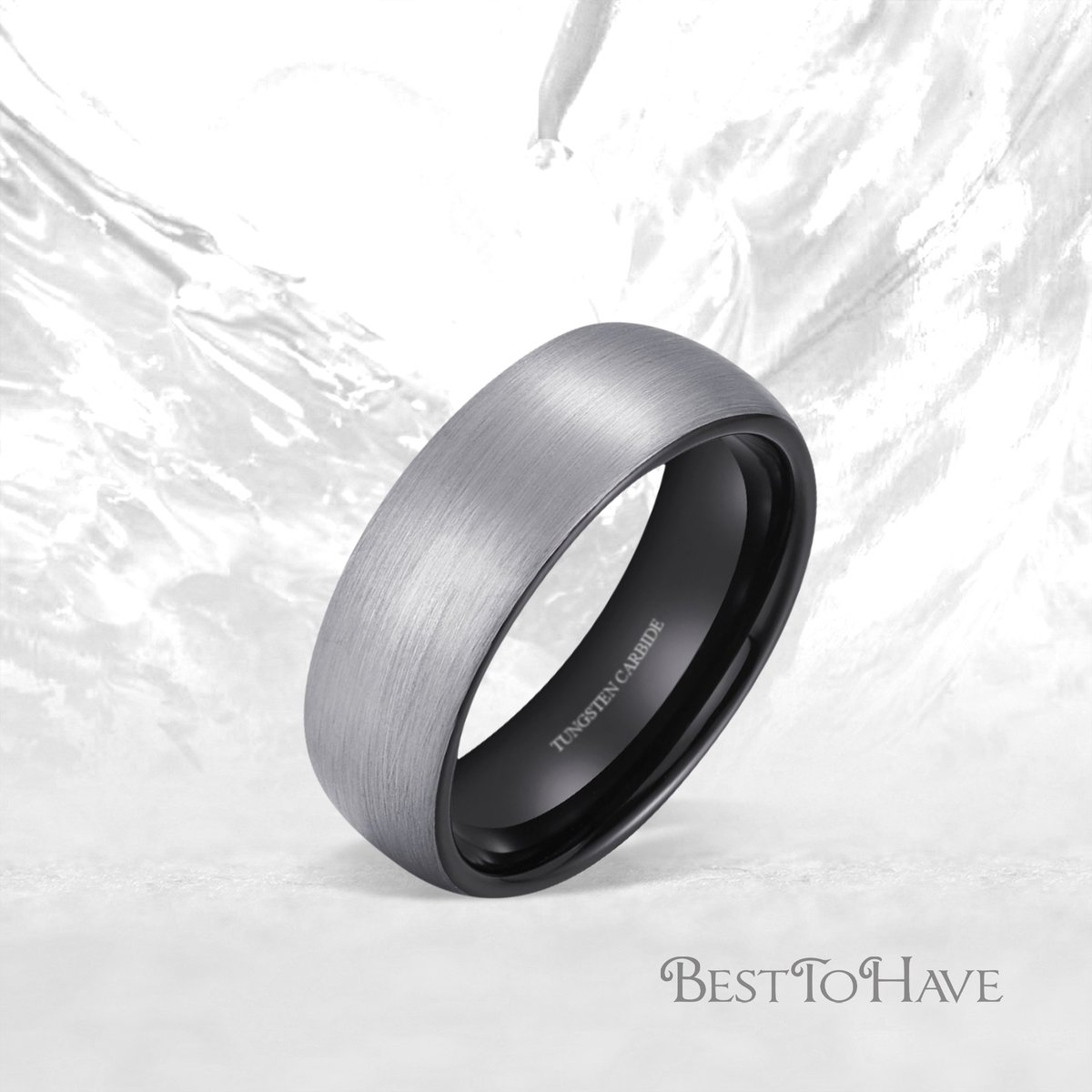 Brushed Tungsten Wedding Engagement Ring With Black Interior Code: 408 £29.99 Shop more:  #besttohave #besttohavejewelry #besttohaverings #wedding #engagement #weddingrings #weddinginspiration #tungsten #tungstenrings #tungstenjewelry #jewelry #jewellery