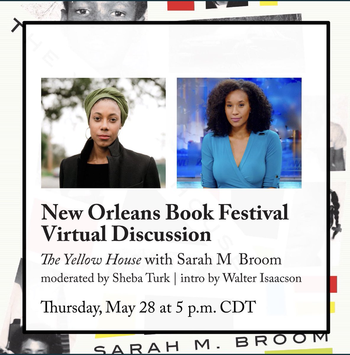 """""""The Yellow House"""" by NOLA native @sarahmbroom was my favorite read of 2019! This Thursday at 5pm... I will be moderating a virtual discussion with her since the New Orleans Book Festival was cancelled in March  Register here:"""