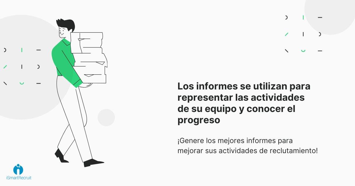 Los informes se utilizan para representar las actividades de su equipo y conocer el progreso  https://bit.ly/2XztuZz #humanresource #reclutamiento #hrmexico #capitalhumano #rrhh #HRBP #talentohumano #ats #rrhhmexico #rrhhargentina #softwaredereclutamiento #sistemadereclutamientopic.twitter.com/CFWmn1G14C