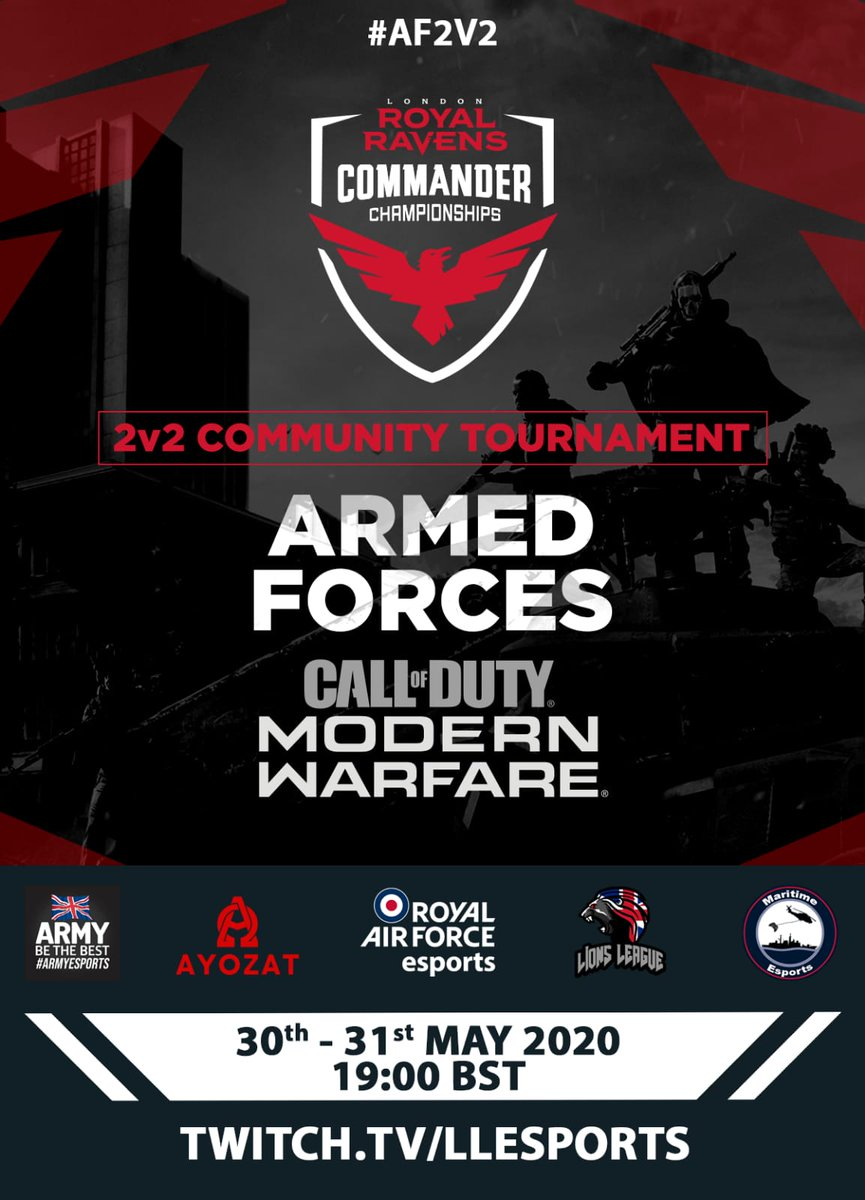Armed Forces eSports Tournament. Who will be crowned the Armed Forces 2v2 Call Of Duty Champions.  @CallofDuty @Activision @BritishArmy @RoyalNavy #AF2v2 https://t.co/J5yek3OFXJ