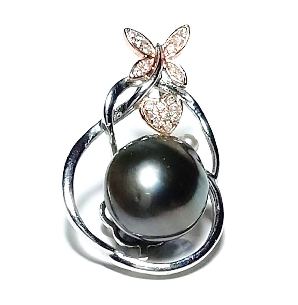 Excited to share the latest addition to my #etsy shop: Best Idea For Gift Her! Genuine Tahitian South Sea Natural Peacock Gray Green 11.2 x 13.3mm Baroque Cultured Pearl Inspiration Pendant  #no #edwardian #silver #girls #pearl #green #rainbow #l