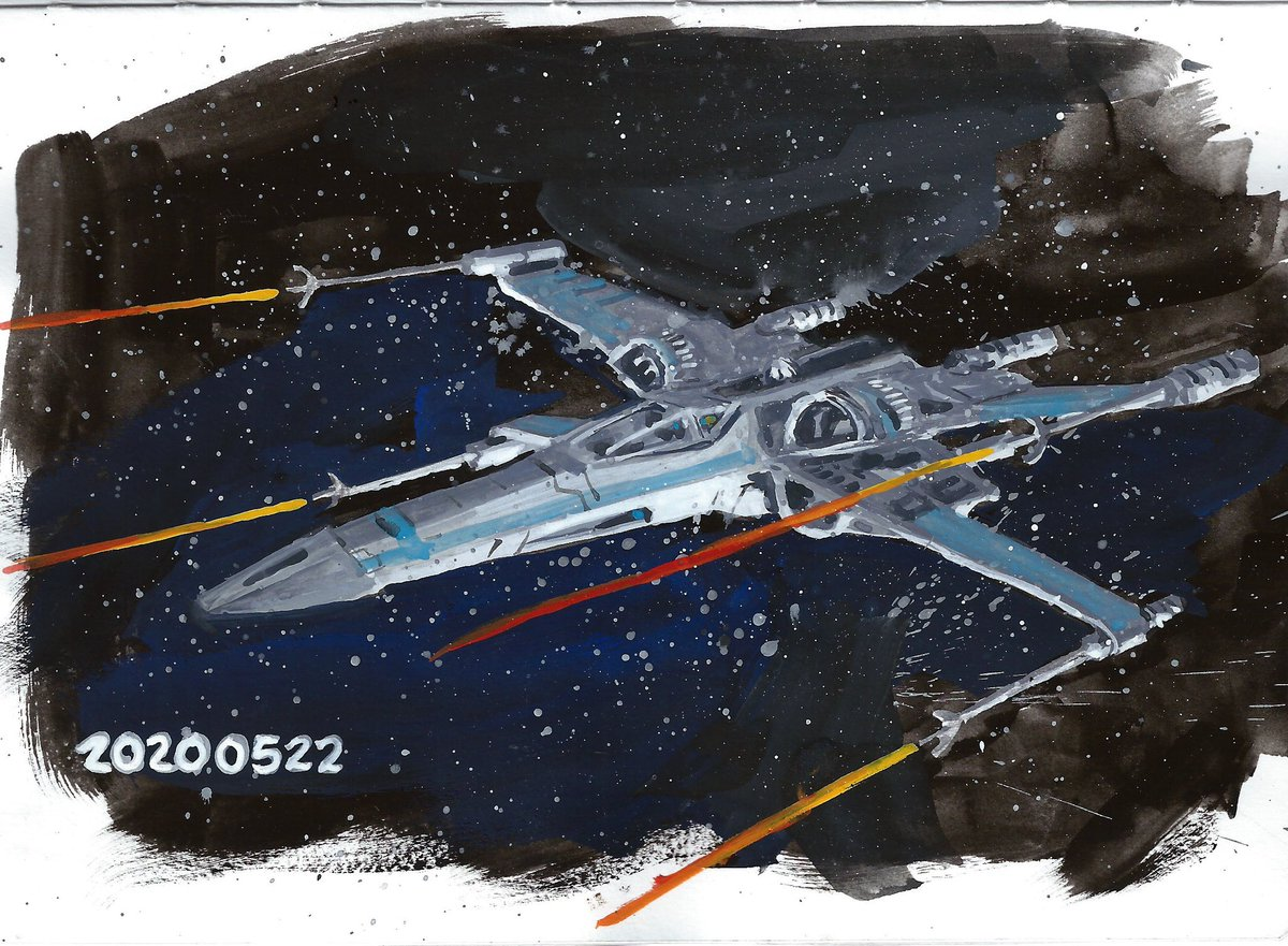 #gouache #painting of an #xwing   #sketchbook #illustration #starwars #starwarsart <br>http://pic.twitter.com/NrVMwfyWbE