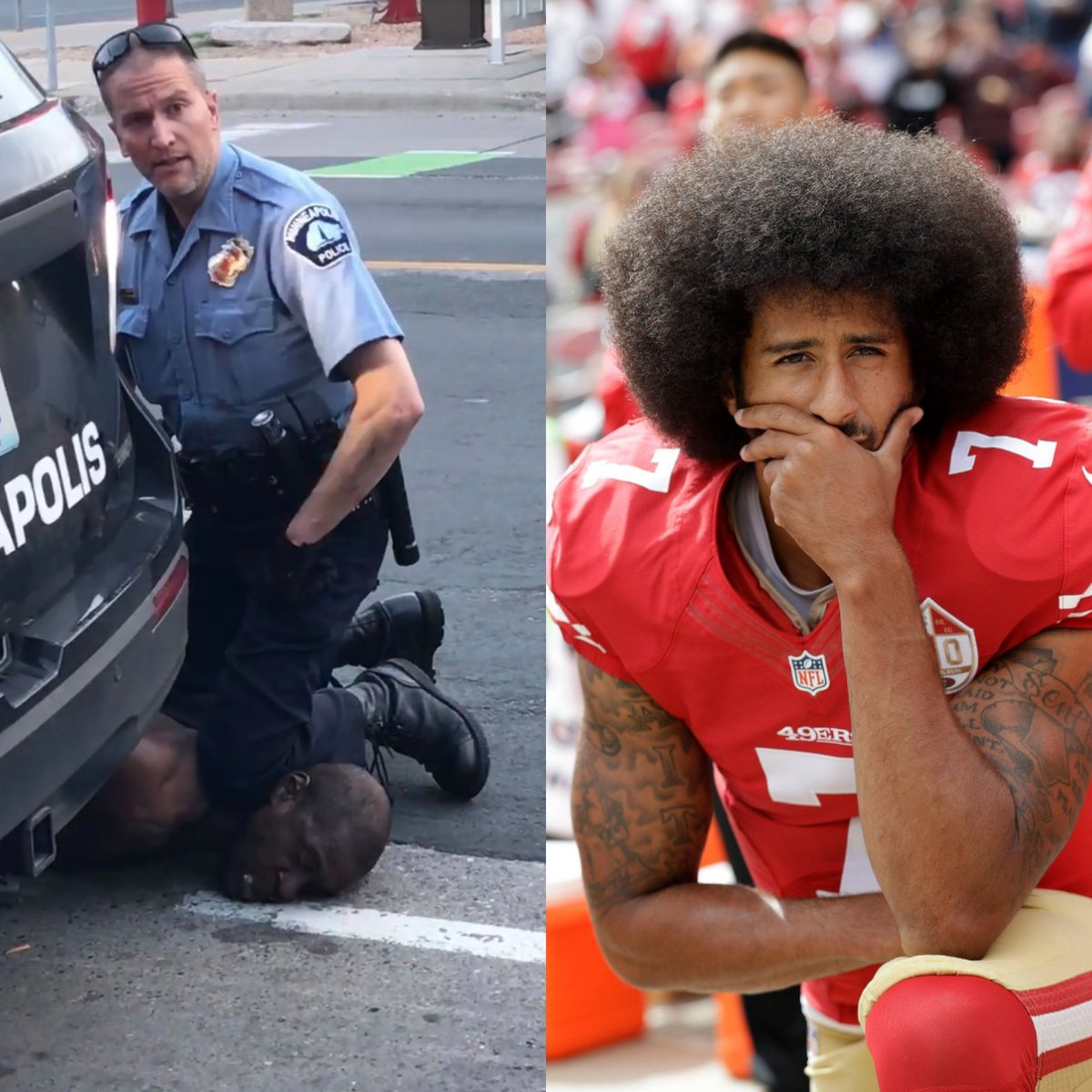 #icantbreathe Taking a Knee: A Portrait in Black and Blue.
