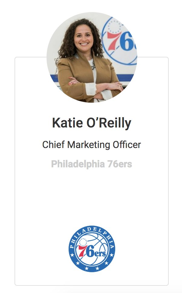 .@Sixers 🏀CMO @KatieGrOreilly headlines another incredible roster of speakers for @SportsPro @SPInsiderSeries this Thursday, May 28 in How the 76ers are Innovating to the New Reality - Register: tinyurl.com/ycwhhtlw May 27 - 28 Agenda: tinyurl.com/ycmzkkdn