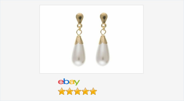 New 9ct Gold Simulated Pearl Drop Stud Earrings - boxed | eBay #9ct #gold #simulated #pearl #drop #stud #earrings #gifts #giftideas #giftsforher #beauty #pretty #jewellery #finejewelry #weddings #jewelry #uksmallbiz #ATSocialUK #ebay #onlineshopping