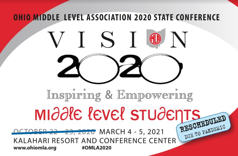 #OMLA2020 is moving!!! Join @Wes_Kieschnick @kevinhoneycutt and @JBerckemeyer at Kalahari March 4-5, 2021! ohiomla.org/annual-confere…