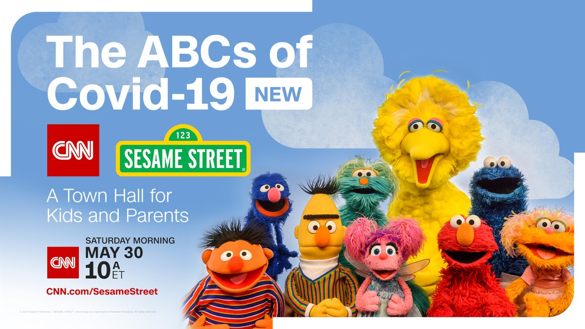 The @sesamestreet crew is back for another CNN Town Hall! Tune in this Saturday, May 30 at 10amET as they join @drsanjaygupta and @EricaRHill to discuss issues surrounding coronavirus, including staying safe this summer! Full release: cnn.it/2M1DMMp