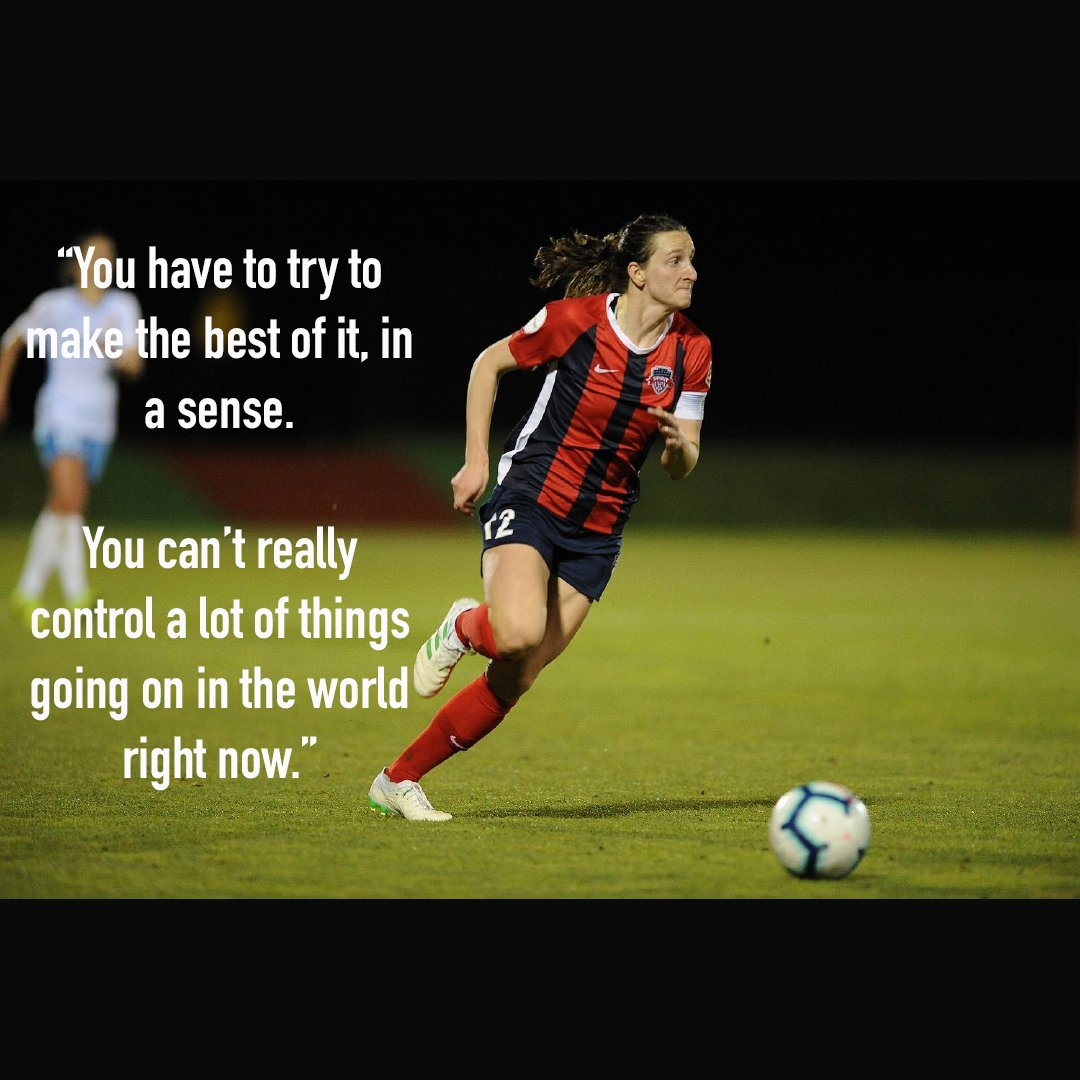 A super cool player perspective by Andi Sullivan, United States Women's National Team player, who wrote an honest and inspiring article about what life is like in quarantine. To read the full story visit https://t.co/MrEXivvMSp. #UnitedinSports #UnitedTogether https://t.co/CqGthkEFmk