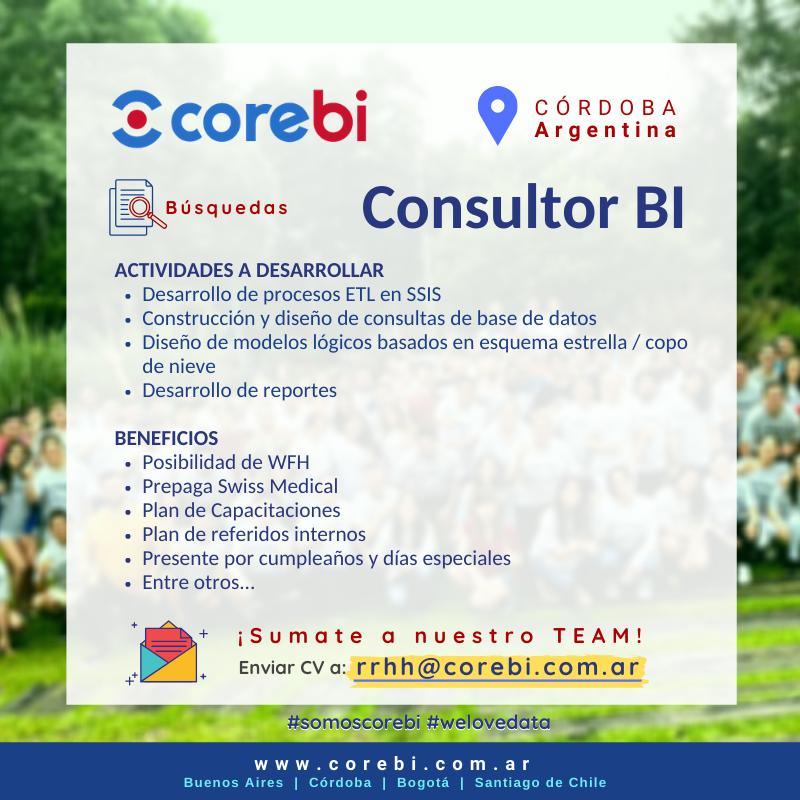 #Sumate a nuestro #team de #Córdoba! ¡Sumate a #COREBI! Envianos tu CV a rrhh@corebi.com.ar  #WeAreHiring #sumateacorebi #corebibusquedas #teamcorebi #somoscorebi #analytics #greatworkforplace #jobs #busquedalaboral #innovation #consultorbi #etl #rrhhargentina pic.twitter.com/UEO18j6Ztm