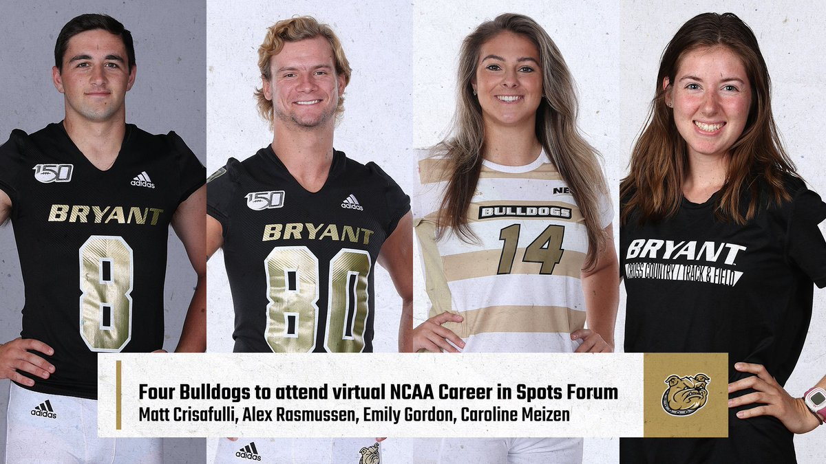 Excited to have four of our student-athletes attend the virtual NCAA Career in Sports Forum this week!  https://t.co/Ai4w6XJfVn  #WeAreBryant https://t.co/UPyBNKT3Kz
