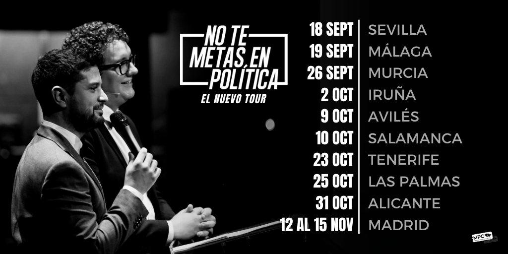 Así ha quedado la gira de @NTMEP con #ElNuevoTour.  @FacuDiazT y @maltorres volverán a pisar los escenarios de los mejores pueblos del mundo 🔥  + info y entradas: https://t.co/WPb7xFgEYu https://t.co/vqmdNNEM2F