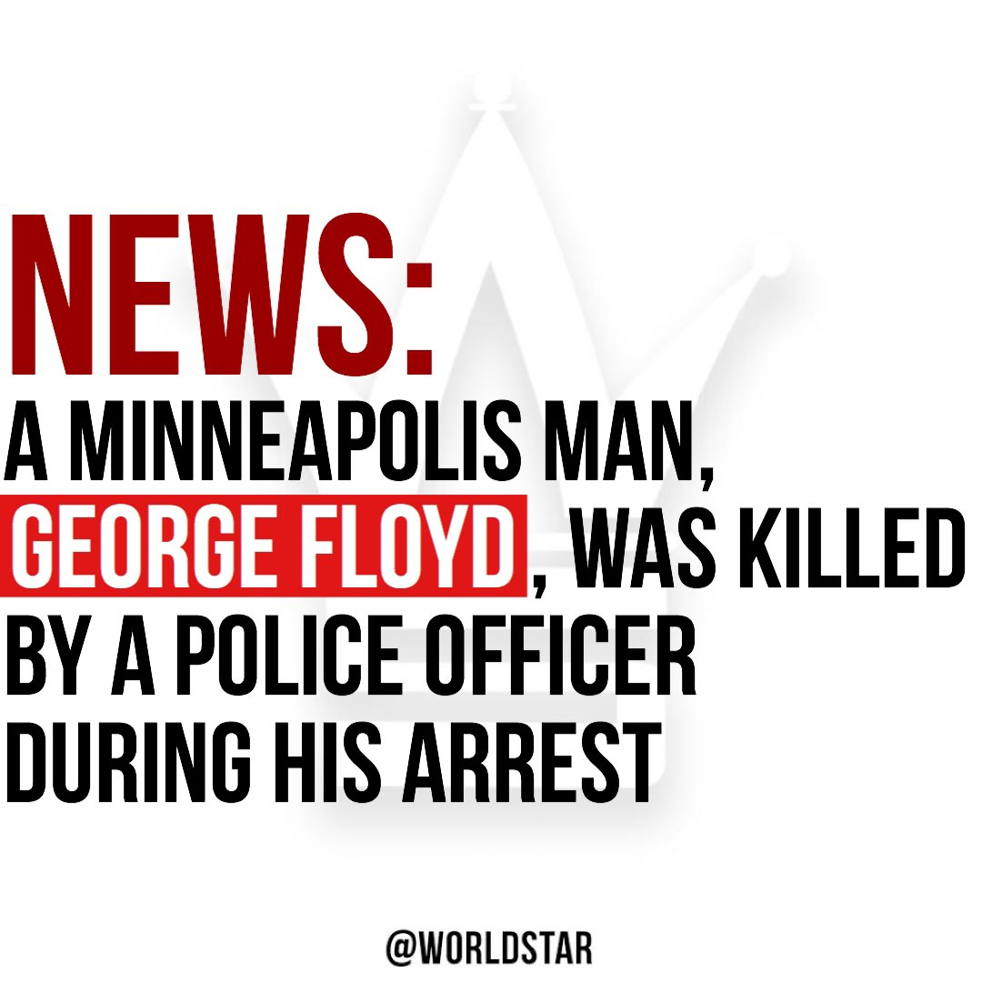 According to multiple reports, #GeorgeFloyd was killed after a police officer kept his knee on the man's neck, despite pleas by the man that he couldn't breathe. The #FBI is currently working on the case... read more by clicking here... https://t.co/eq6AJeppuf Via @TMZ https://t.co/5NQng8s3ji