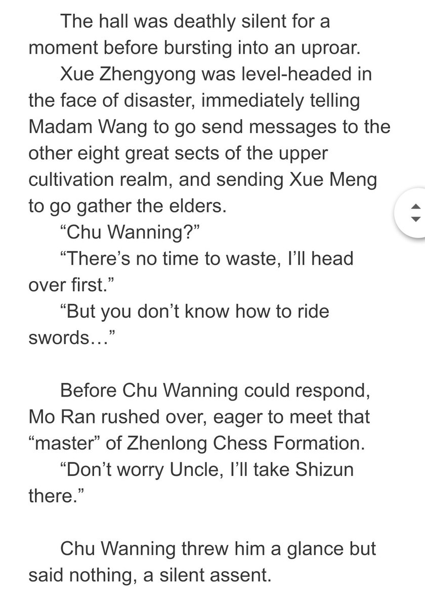 Oh my!!? Is this why Chu WanNing always choses other ways of transportation than flying on a sword?! Seriously? XD #RukiReads2Ha<br>http://pic.twitter.com/F34yVQ0vUq