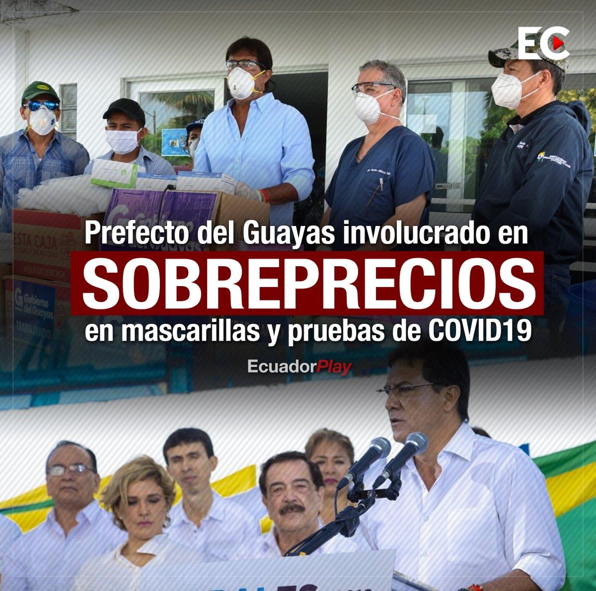 Más y más sobreprecios. Prefectura del #Guayas del exfutbolista @CLMoralesB compra 70.000 mascarillas N95 a $6.71 cada una, cuando en el mercado se consiguen a $3.0. Además de 5.000 pruebas rápidas para #COVID19 a $23.16 cada una, cuando se ofertan desde $13.0. ⬇️ https://t.co/6JQ9AJDpCi