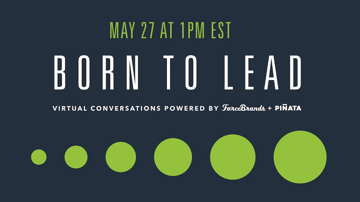Join our 'Born to Lead' webinar Wednesday, May 27 from 1-2pm EST featuring thought leaders from @JagermeisterUSA, @CincoroTequila, @WomenoftheVine, and more: https://t.co/Y4FxMicQP2 #leadership #webinar #WebinarWednesday #cpg https://t.co/XdnZfBeCHp