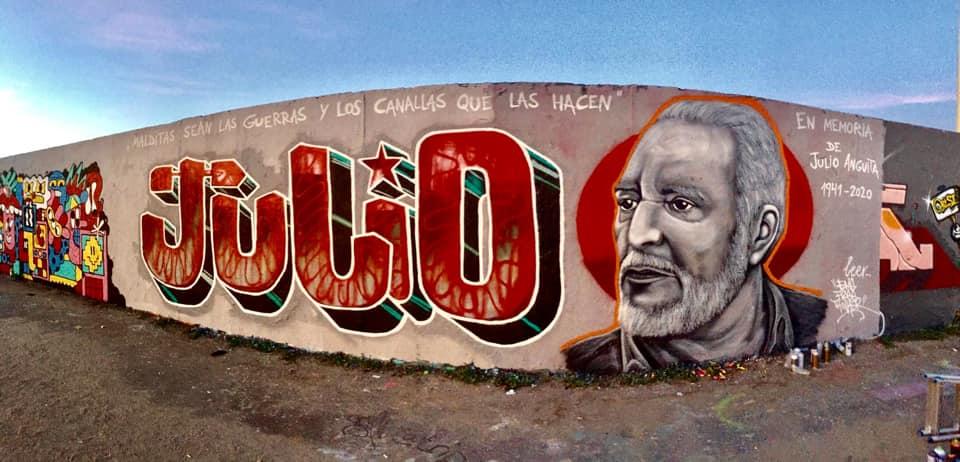 """✊ Pedazo de mural en memoria de #JulioAnguita """"El Califa Rojo"""" han hecho en Mauerpark (Berlín, Alemania) facebook.com/58920599461380… #JulioVive"""