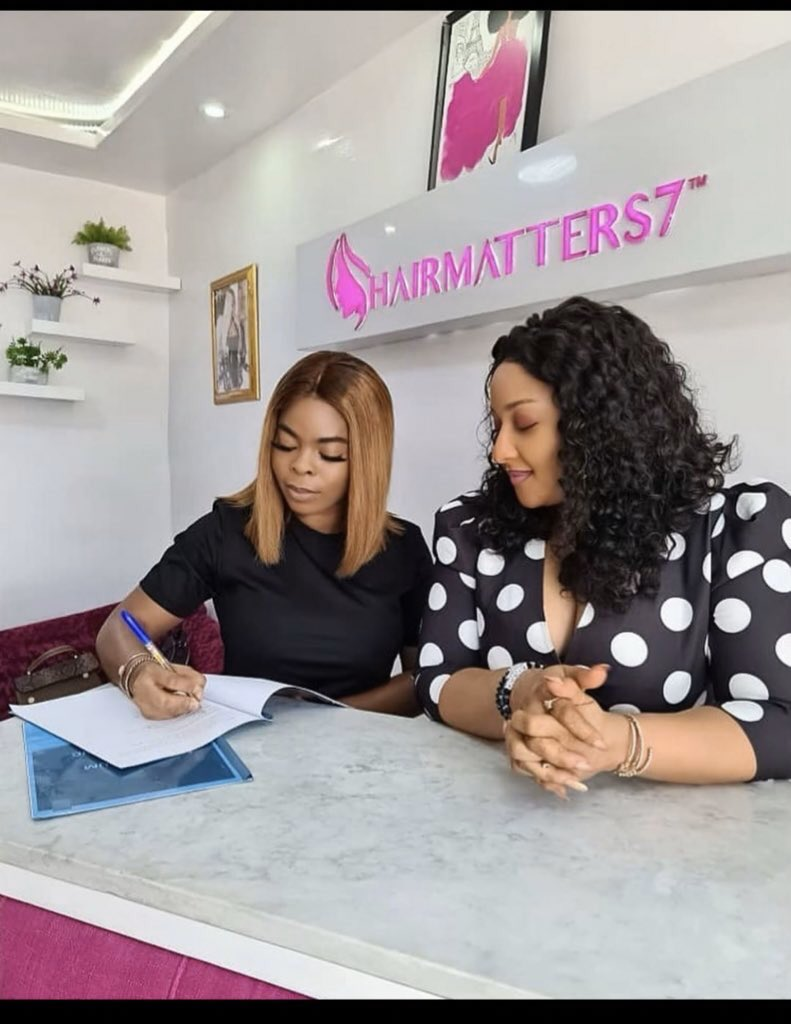 They laughed at you ! They said they will pull the wig off your head ! They mocked you ! But guess what ??? You are the brand ambassador for a hair company !!!! Who God has blessed no man can curse ! #UltimateLoveNG #DearKachi #RosieXHairMatter7<br>http://pic.twitter.com/D4V14bIVIm