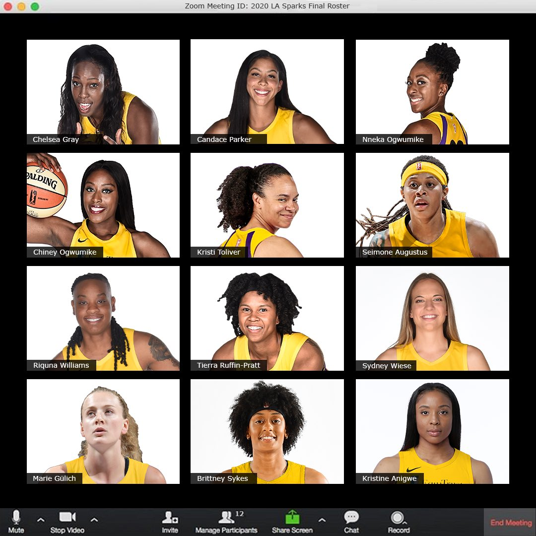 Did y'all catch our final roster on Zoom?😎 Full Release » on.nba.com/2zxzDNM #GoSparks #LeadTheCharge