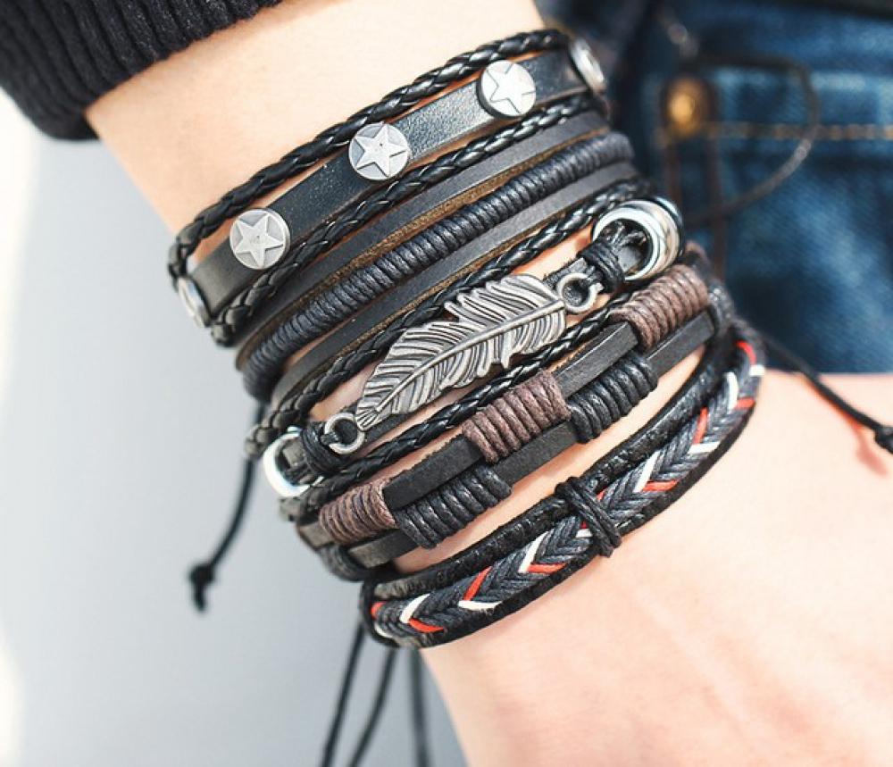 Leaf Feather Multilayer Leather Bracelet   #jewels #boho #handmadejewelry #movienecklaces #photooftheday #stylish